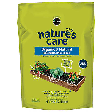 Miracle-Gro Nature's Care Organic & Natural Raised Bed Plant Food 3 lb., 3331510