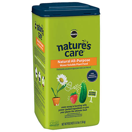 Miracle-Gro Nature's Care Natural All-Purpose Water Soluble Plant Food 3 lb., 2830510