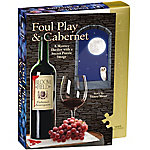 University Games 1,000-Piece Shaped Jigsaw Puzzle, Foul Play and Cabernet