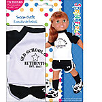 Fibre Craft Springfield Collection Soccer Outfit, Black White T-Shirt Shorts