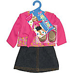 Fibre Craft Springfield Collection Denim Skirt Outfit, Pink Shirt & Shoes