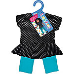 Fibre Craft Springfield Collection Peplum Top & Pant, Black Polka Dots & Teal