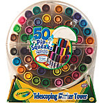 Crayola Pip Squeaks Washable Telescoping Marker Tower, Pack of 50