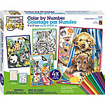 Dimensions Pencil Works Color By Number Kit, Friendly Animals