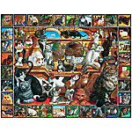 White Mountain Lovable Pets Puzzle, The World Of Cats