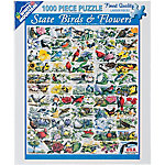 White Mountain 1,000-Piece Jigsaw Puzzle, State Birds Flowers