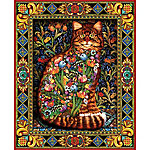 White Mountain 1,000-Piece Jigsaw Puzzle, Tapestry Cat