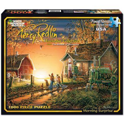 White Mountain Terry Redlin Puzzle; Morning Surprise