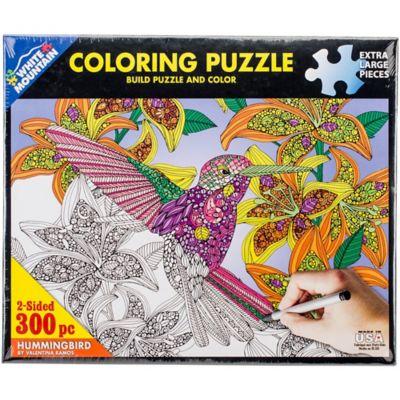 White Mountain 300-Piece Coloring Puzzle; Hummingbird