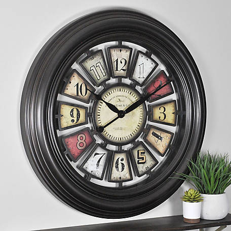 FirsTime Industrial Chic Wall Clock, 189