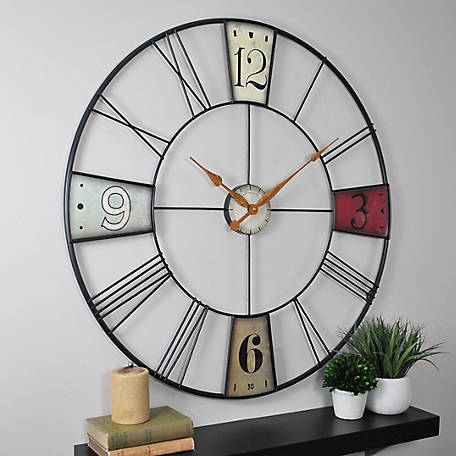 FirsTime Vibrant Plaques Wall Clock