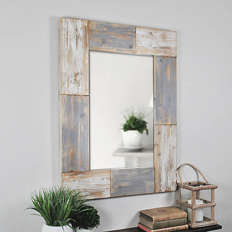 FirsTime Mason Planks Wall Mirror, 70001