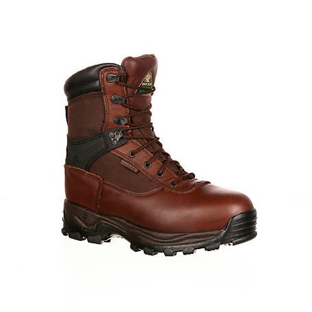 Rocky Men's 9 in. Brown Sport Utility Pro Steel Toe Waterproof Thinsulate Lace-Up Boot