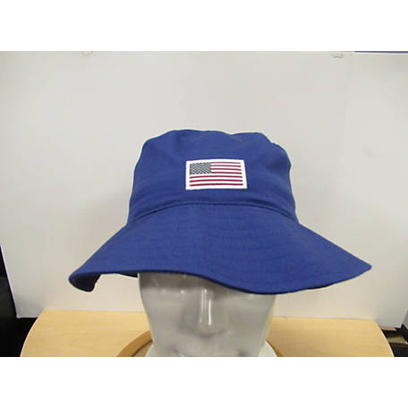 Outdoor Cap Blue American Flag Bucket-Style Hat