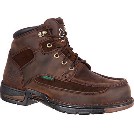 Georgia Boot Men's 6 in. Brown Athens Waterproof Lace-Up