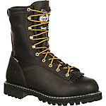 Georgia Boot Men's 8 in. Black Loggers Waterproof Thinsulate Logger
