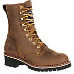 Georgia Boot Men's 8 in. Brown Loggers Steel Waterproof Thinsulate Logger