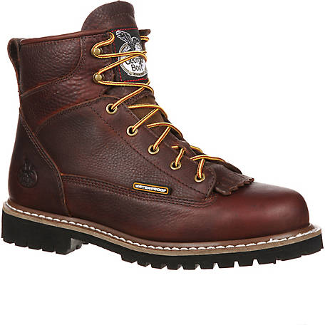 efa696b91ffa Georgia Boot Men s 6 in. Chocolate Loggers Waterproof Logger at ...