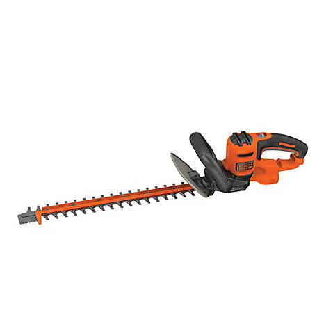 Black & Decker 20 in. 3.8A Corded Electric Hedge Trimmer, BEHTS300