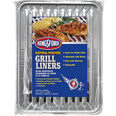 Kingsford Extra-Tough Grill Liners, Pack of 4