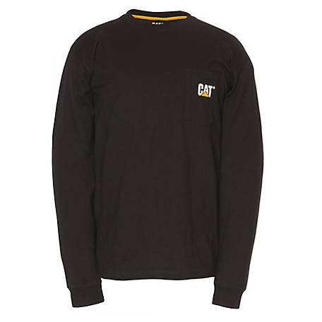 Caterpillar Men's Trademark Pocket Long Sleeve T-Shirt
