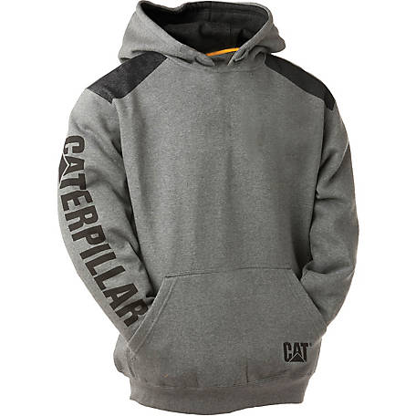 Caterpillar Men's Logo Panel Hooded Sweatshirt