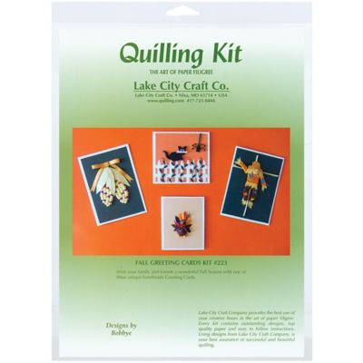 Buy Lake City Craft Quilling Kit; Fall Greeting Card Online