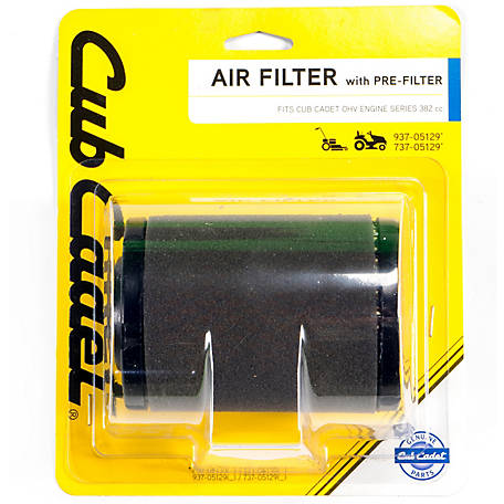 Cub Cadet Air Filter with Pre-Filter for Cub Cadet Series 382cc Engines