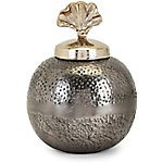 Trisha Yearwood Luxe Small Vase with Ginkgo Lid