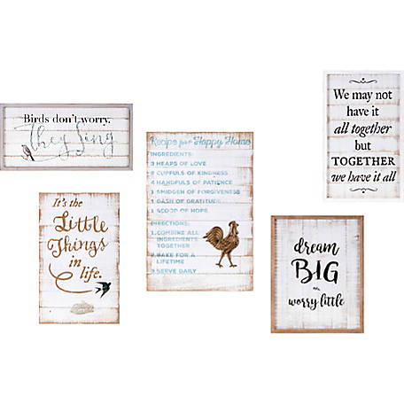 Trisha Yearwood Songbird Inspirational Wall Decors, Set of 5