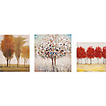 Miniature Tree Gallery Art, Set of 3