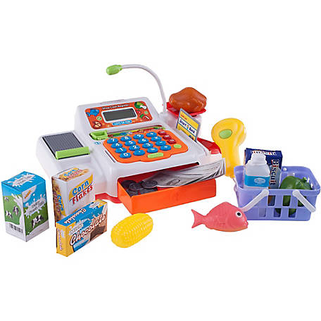Hey! Play! Pretend Electronic Cash Register with Real Sounds and Functions