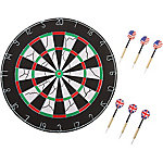 Hey! Play! 18 in. Double-Sided Flocking Dartboard with Six 17g Darts