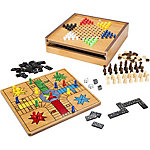 Hey! Play! 7-in-1 Combo Game with Chess, Ludo, Chinese Checkers and More