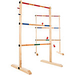 Hey! Play! Double Wooden Ladder with 6 Bolas