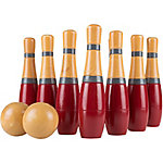 Hey! Play! Lawn Bowling, 8 in. Tall Wooden Lawn Game, Indoor and Outdoor Toy, Adults and Kids