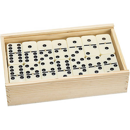 Hey! Play! Premium Set of 55 Double-Nine Dominoes with Wood Case