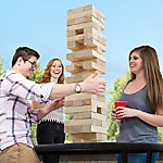 Hey! Play! Giant Wooden Blocks Tower Stacking Outdoors Yard Game