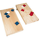 Hey! Play! Unfinished Regulation Size Wooden Cornhole Boards and Bags