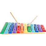 Hey! Play! Classic 12-Note Wooden Xylophone Musical Toy with 2 Wooden Mallets