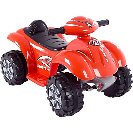 Battery Operated Ride On Toys >> Lil Rider Ride On Toy Quad Atv Battery Powered Dinosaur 4 Wheeler Toy With Sound Effects Red At Tractor Supply Co