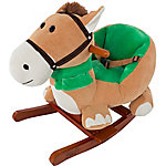 Happy Trails Plush Rocking Horse with Seat and Seat Belt and Sounds