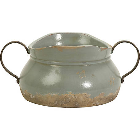 Calista Short Bowl with Metal Handles