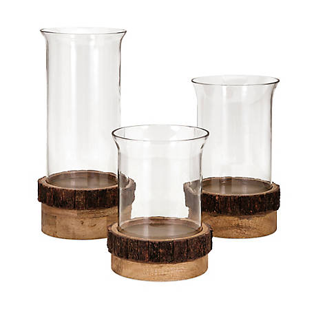 Damari Pillar Candleholders, Set of 3