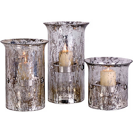 Mercury Candleholders, Set of 3