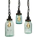 Lexington Mason Jar Pendant Lights, Set of 3