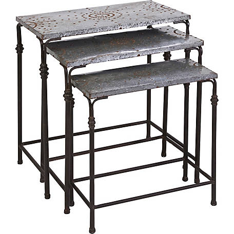 Gilbert Galvanized Nesting Tables, Set of 3