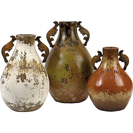 Martine Terracotta Jugs, Set of 3