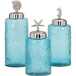 Aubrey Lidded Glass Canisters, Set of 3