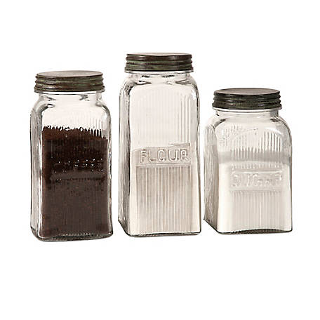 Dyer Glass Canisters, Set of 3